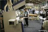 Демонстрация деревообрабатывающего оборудования на стенде компании Weinig