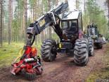 Бывшая в употреблении лесозаготовительная техника