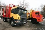 Лесовозы Scania и КамАЗ