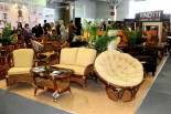 Плетеная мебель на выставке