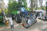 Мульчер FAE на колесном тракторе