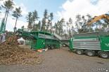 Сортировочно-рубительный комплекс Komptech. Переработка пней и верхушек деревьев
