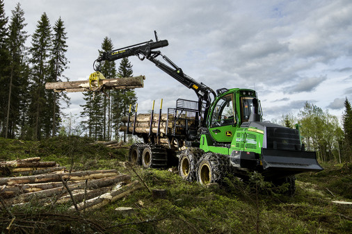 The entire G series of mid-size forwarders from John Deere is being exhibited at Elmia Wood.