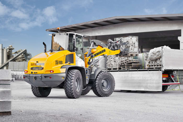 Liebherr of Germany is holding the world premiere of its new loader 518 at Elmia Woods new section Load and Transport.