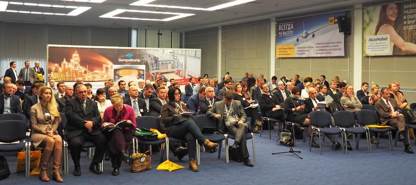 Аудитория конференции «Плитная промышленность России: возможности и перспективы в сложных экономических условиях»