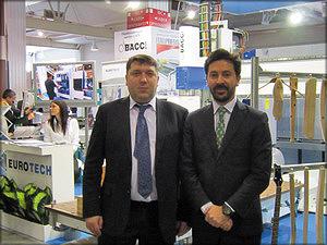 Дмитрий Девятовский, генеральный директор Eurotech и Паоло Баччи, директор компании Bacci