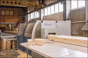 Автоматизированный станок AUER Big LOG для зарезки деталей дома