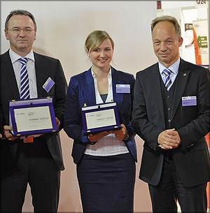 Представители Homag Group: Александр Прокиш, Юлия Вебер и Юрген Кеппель
