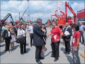 Встреча земляков в Мюнхене: министр лесного хозяйства словении Деян Жидан и директор компании Tajfun Изток Шпан