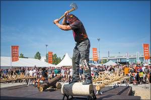Соревнования лесорубов Stihl Timbersports