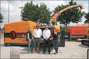 Управляющие директора компании Europe Chippers Эрьен стоевалаар и Ян Веурник с сотрудницами