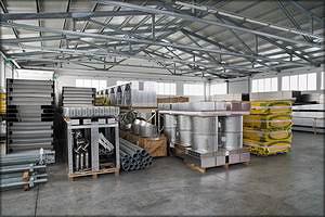 Цех производства сушильных камер Termolegno, материалы, готовые к отправке заказчикам