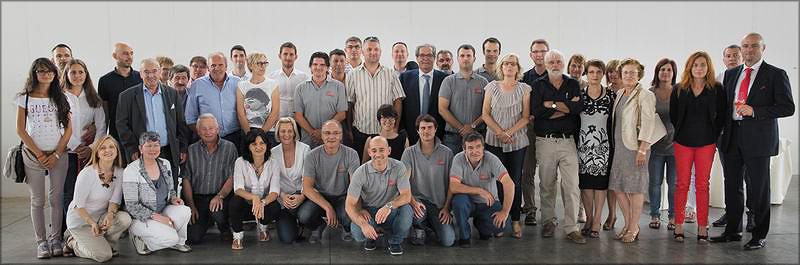 Заказчики, агенты, дилеры и сотрудники компании Termolegno на праздновании 20-летнего юбилея фирмы