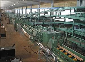 Большой профилирующий лесопильный завод, работающий в режиме just-intime