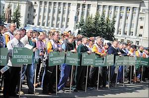Участники чемпионата среди вальщиков леса «Лесоруб 2014»
