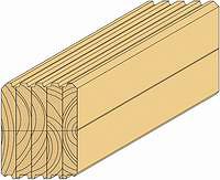 Строительный стеновой брус двойной склейки