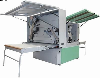 Широколенточный шлифовальный станок Kundig Brilliant для работы с лаковыми и эмалевыми покрытиями с агрегатом для создания эффекта «высокого глянца»