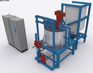 Рис. 1. Установка для приготовления клеевой смеси Smart Mix 1200 (производитель – компания Raute, Финляндия)