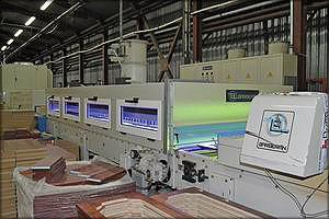 Автоматическая покрасочная линия с УФ-отверждением покрытия Barberan