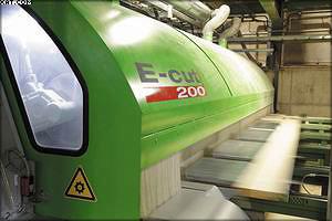 Триммер E-CUT 200 демонстрирует наивысшее качество, работая в производственном режиме на предприятии Theurl Holz