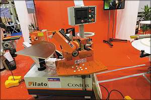 Автоматический станок для криволинейной облицовки кромок FIlato Contur