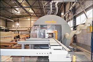 Обрабатывающий центр Essetre для производства элементов деревянных домов