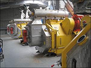 Прессы Salmatec на одном из пеллетных заводов в ЕС