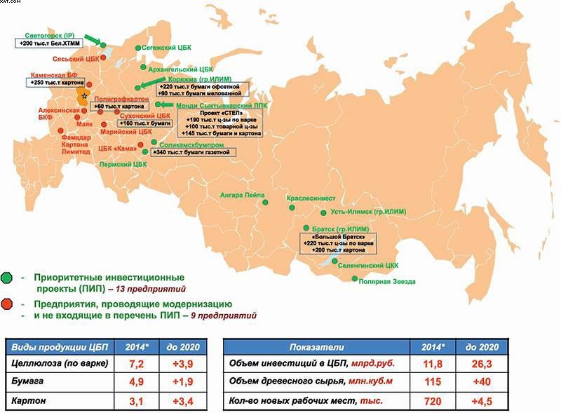 Рис. 5. Инвестиционные проекты в российской ЦБП