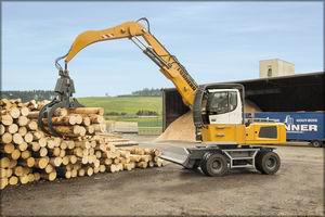 LH 35 M Timber представитель нового поколения перевалочных машин Liebherr