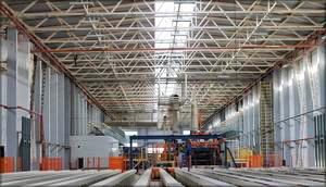 Автоматический промежуточный склад для мастер-плиты и линия шлифования (Steinemann)