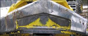Рис. 8. Нож опорный верхний со встречной заточкой по нижней грани режущей кромки
