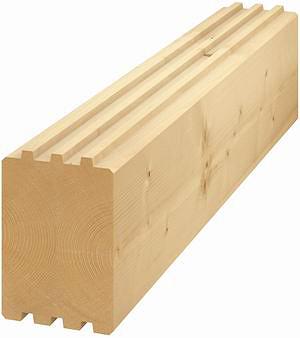 Рис. 6. Профилированный брус для стен и сплошных перекрытий