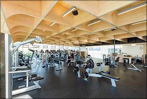 Рис. 7. Конструкция перекрытия из панелей CLT в здании фитнес-центра в Канаде