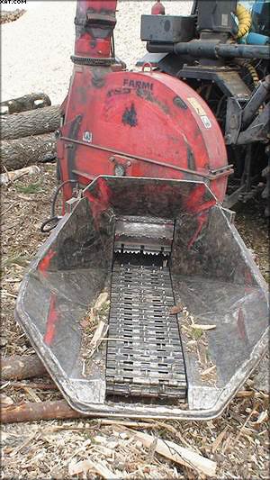 Рис. 2. Рубительная машина Farmi Forest на базе сельскохозяйственного трактора Valmet и ее дисковый рабочий орган