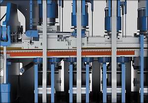 Быстрый сброс давления при расслоении ковра благодаря системе защиты входного сечения ковра Press Infeed Protection