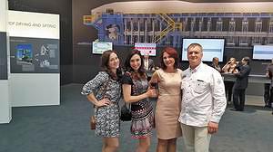Юлия Валайне, Елена Шумейко («ЛесПромИнформ»), Елена Шенфельд и Майрис Рейзинс, управляющий директор пеллетной компании NewFuels