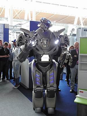 Робот на стенде Homag