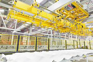 Участок сортировки и контроля качества ламинированной плиты. Линия ламинирования (Wemhoener)
