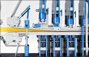 Входное сечение пресса, работающее по принципу двойного шарнира, для быстрого увеличения давления