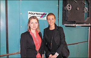 Наталья Федотова (заместитель генерального директора по производству ЗАО «Архангельский фанерный завод») и Мария Королева (исполнительный директор по работе с СНГ и странами Восточной Европы Polytechnik Luft- und Feuerungstechnik GmbH)