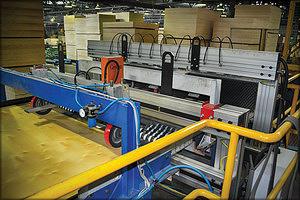 Автоматическое определение наличия пустот в листах фанеры и измерение их толщины при помощи системы контроля GreCon