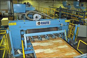 Роторные ножницы лущильной линии Raute VE 800