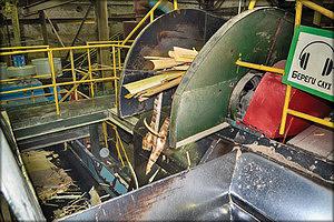 Измельчение отходов на рубительном участке