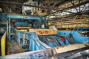 Высокопроизводительный лущильный станок Raute