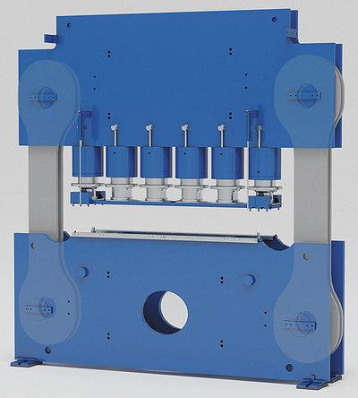 Рис. 5. Модульное конструктивное исполнение рам с предварительно смонтированными цилиндрами давления