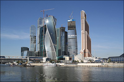 Башни «Восток», «Федерация», «Эволюция», «Евразия», «Империя», «Меркурий Сити Тауэр», «Башня на набережной», ММДЦ «Москва-Сити», Москва