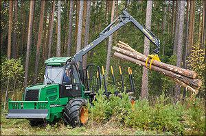 Демонстрация работы лесозаготовительной техники в реальных условиях