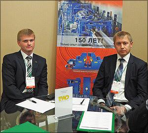 Представители генерального спонсора конференции – компании EWD – Евгений Камерцель, Александр Моисейченко