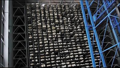 Рис. 15. Высотный склад на заводе Nordlam