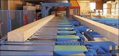 Рис. 16. Один из двух центров Hundegger на заводе Merkle Holz (Германия)